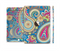 The Subtle Blue & Yellow Paisley Pattern Full Body Skin Set for the Apple iPad Mini 3