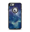 The Subtle Blue and Green Nebula Apple iPhone 6 Otterbox Defender Case Skin Set
