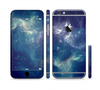 The Subtle Blue and Green Nebula Sectioned Skin Series for the Apple iPhone 6 Plus