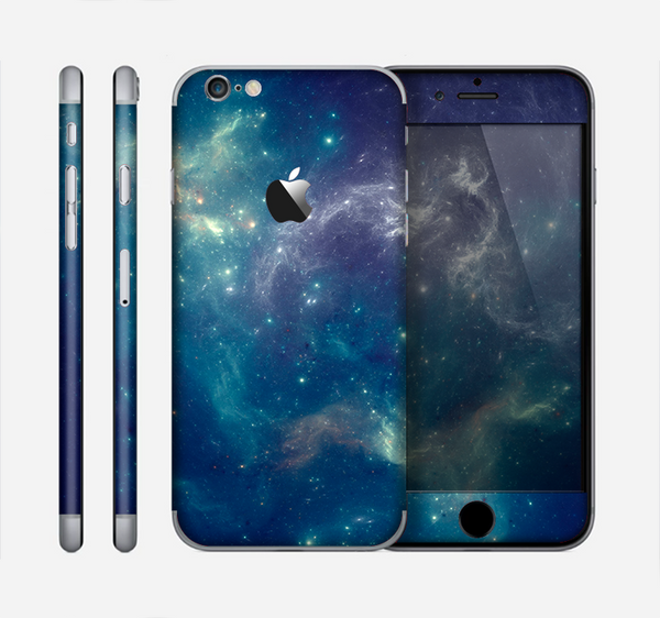 The Subtle Blue and Green Nebula Skin for the Apple iPhone 6
