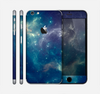 The Subtle Blue and Green Nebula Skin for the Apple iPhone 6 Plus