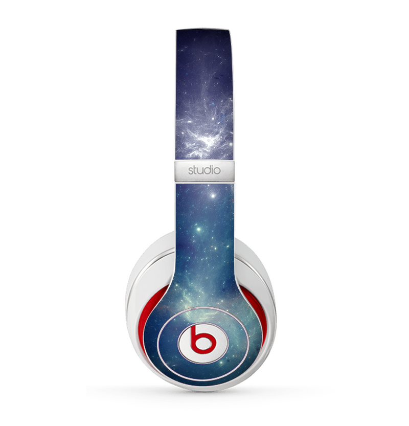 The Subtle Blue and Green Nebula Skin for the Beats by Dre Studio (2013+ Version) Headphones