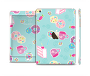 The Subtle Blue with Pink Treats Full Body Skin Set for the Apple iPad Mini 3