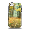 The Subtle Gold Autumn Forrest Apple iPhone 5c Otterbox Symmetry Case Skin Set