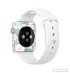 The Subtle Gray & White Floral Illustration Full-Body Skin Kit for the Apple Watch