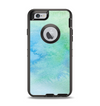 The Subtle Green & Blue Watercolor Apple iPhone 6 Otterbox Defender Case Skin Set