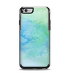 The Subtle Green & Blue Watercolor Apple iPhone 6 Otterbox Symmetry Case Skin Set