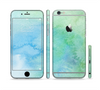 The Subtle Green & Blue Watercolor Sectioned Skin Series for the Apple iPhone 6 Plus