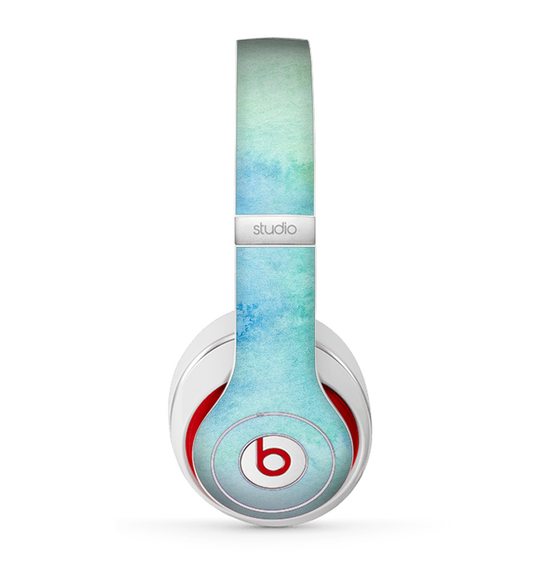 The Subtle Green & Blue Watercolor Skin for the Beats by Dre Studio (2013+ Version) Headphones