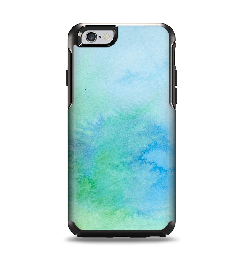 reputable site 4b6d4 1105a The Subtle Green & Blue Watercolor V2 Apple iPhone 6 Otterbox Symmetry Case  Skin Set