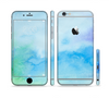 The Subtle Green & Blue Watercolor V2 Sectioned Skin Series for the Apple iPhone 6 Plus