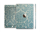 The Subtle Green Lace Pattern Full Body Skin Set for the Apple iPad Mini 3