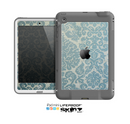 The Subtle Green Lace Pattern Skin for the Apple iPad Mini LifeProof Case