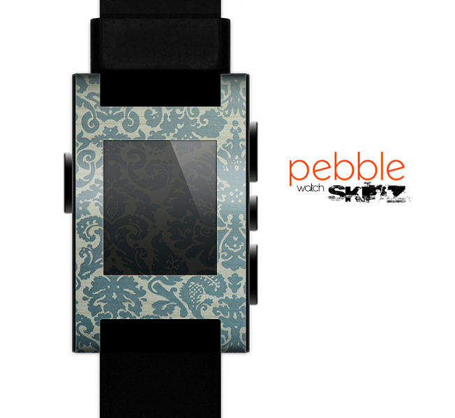 The Subtle Green Lace Pattern Skin for the Pebble SmartWatch