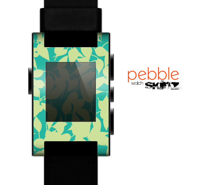 The Subtle Green Seamless Leaves Skin for the Pebble SmartWatch