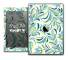 The Subtle Green Vector Floral Skin for the iPad Air
