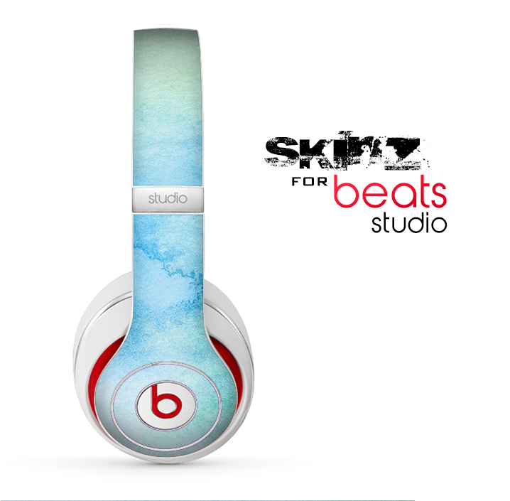The Subtle Green & Blue Watercolor Skin for the Beats Studio for the Beats Skin