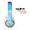 The Subtle Green & Blue Watercolor V2 Skin for the Beats by Dre Studio Wireless Headphones