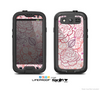 The Subtle Pink Floral Illustration Skin For The Samsung Galaxy S3 LifeProof Case