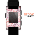 The Subtle Pink Floral Illustration Skin for the Pebble SmartWatch