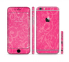 The Subtle Pink Floral Laced Sectioned Skin Series for the Apple iPhone 6 Plus
