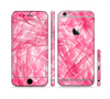 The Subtle Pink Watercolor Strokes Sectioned Skin Series for the Apple iPhone 6 Plus