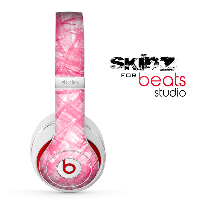 The Subtle Pink Watercolor Strokes Skin for the Beats Studio for the Beats Skin