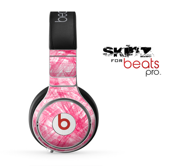 The Subtle Pink Watercolor Strokes Skin for the Beats by Dre Pro Headphones