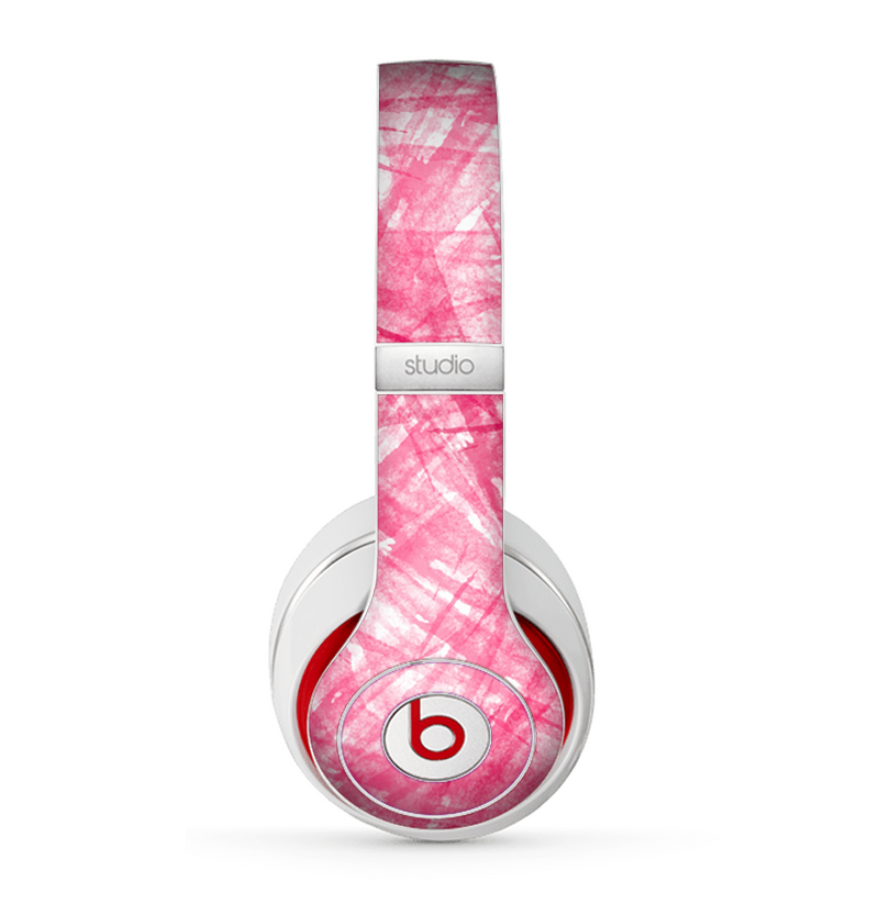 The Subtle Pink Watercolor Strokes Skin for the Beats by Dre Studio (2013+ Version) Headphones