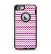 The Subtle Pinks and White Chevron Pattern Apple iPhone 6 Otterbox Defender Case Skin Set