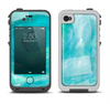 The Subtle Teal Watercolor Apple iPhone 4-4s LifeProof Fre Case Skin Set