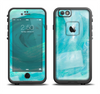 The Subtle Teal Watercolor Apple iPhone 6 LifeProof Fre Case Skin Set