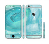 The Subtle Teal Watercolor Sectioned Skin Series for the Apple iPhone 6 Plus