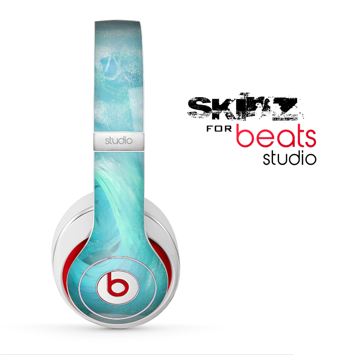 The Subtle Teal Watercolor Skin for the Beats Studio for the Beats Skin