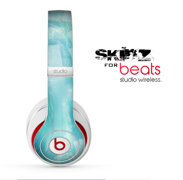 The Subtle Teal Watercolor Skin for the Beats by Dre Studio Wireless Headphones
