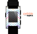 The Subtle Vintage Multi-Colored Chevron Pattern Skin for the Pebble SmartWatch