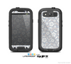 The Subtle White and Blue Floral Laced V32 Skin For The Samsung Galaxy S3 LifeProof Case