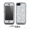 The Subtle White and Blue Floral Laced V32 Skin for the Apple iPhone 5c LifeProof Case