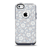 The Subtle White and Blue Floral Laced V32 Skin for the iPhone 5c OtterBox Commuter Case