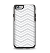 The Subtle Wide White & Gray Chevron Apple iPhone 6 Otterbox Symmetry Case Skin Set