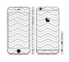 The Subtle Wide White & Gray Chevron Sectioned Skin Series for the Apple iPhone 6 Plus