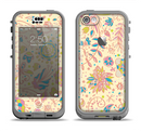 The Subtle Yellow & Pink Sketched Lace Patterns v21 Apple iPhone 5c LifeProof Nuud Case Skin Set