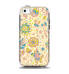 The Subtle Yellow & Pink Sketched Lace Patterns v21 Apple iPhone 5c Otterbox Symmetry Case Skin Set