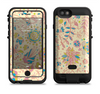 the subtle yellow pink sketched lace patterns v21  iPhone 6/6s Plus LifeProof Fre POWER Case Skin Kit