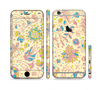 The Subtle Yellow & Pink Sketched Lace Patterns v21 Sectioned Skin Series for the Apple iPhone 6 Plus