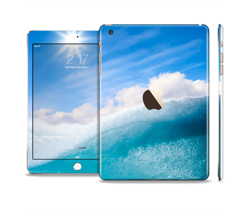 The Sunny Day Waves Full Body Skin Set for the Apple iPad Mini 3