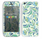 The Sutble Green Floral Vector Pattern Skin for the Apple iPhone 5c