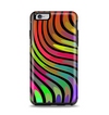 The Swirled Neon Abstract Lines Apple iPhone 6 Plus Otterbox Symmetry Case Skin Set