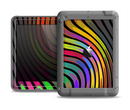 The Swirled Neon Abstract Lines Apple iPad Air LifeProof Fre Case Skin Set