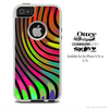 The Swirled Neon Lines Skin For The iPhone 4-4s or 5-5s Otterbox Commuter Case